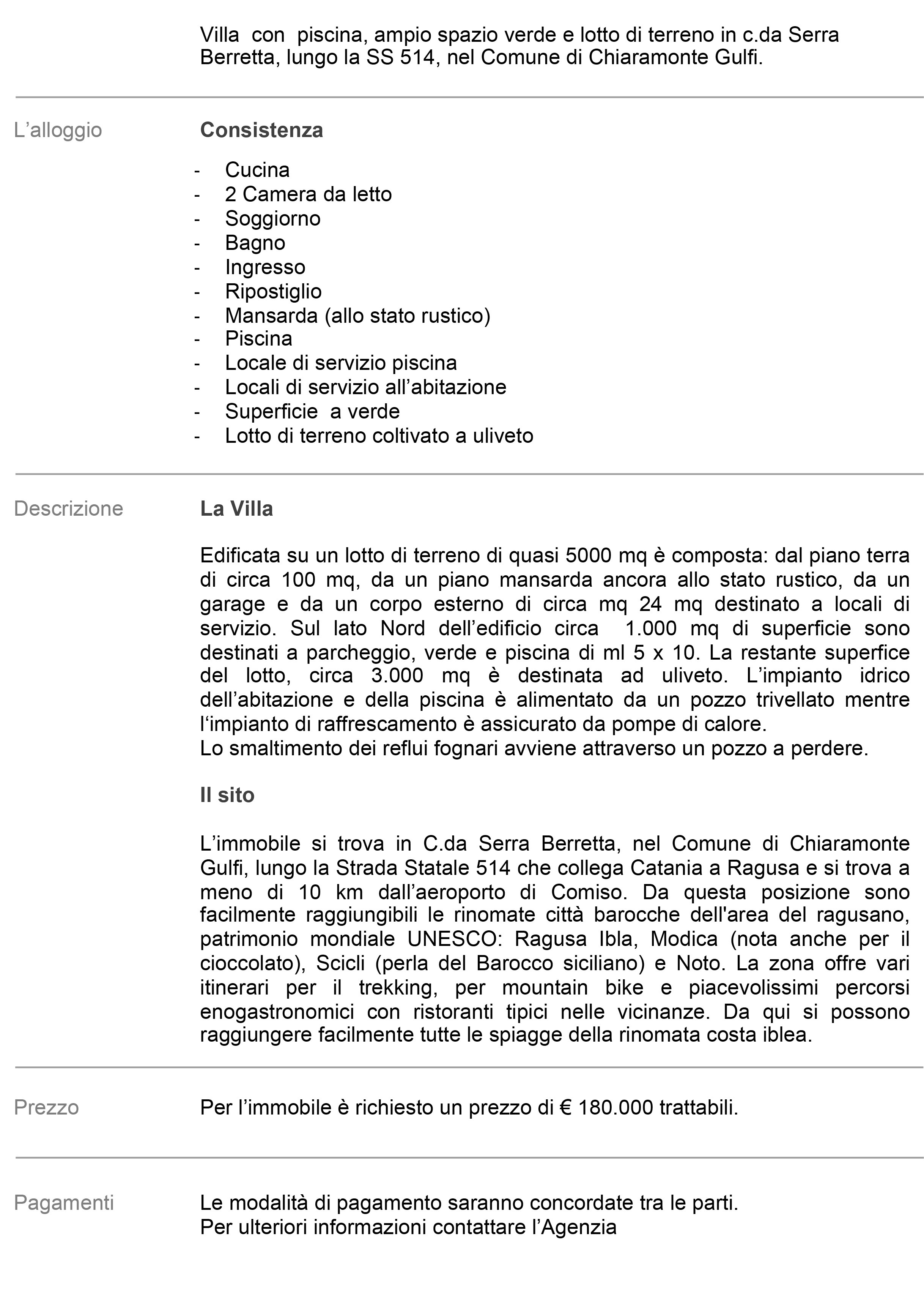 Descrizione mercorillo Serra Berretta